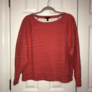Heathered Red J. Crew Sweatshirt